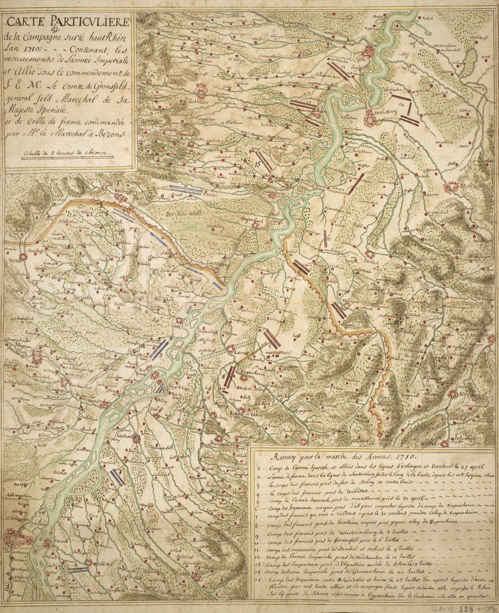 Map of the Rhine, 1710