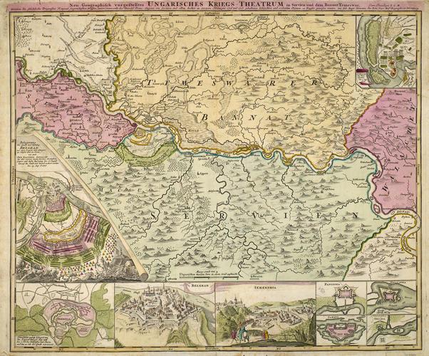 Map of Hungary, 1716-17