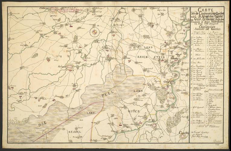 Map of North Brabant, 1748 (North Brabant, Netherlands)