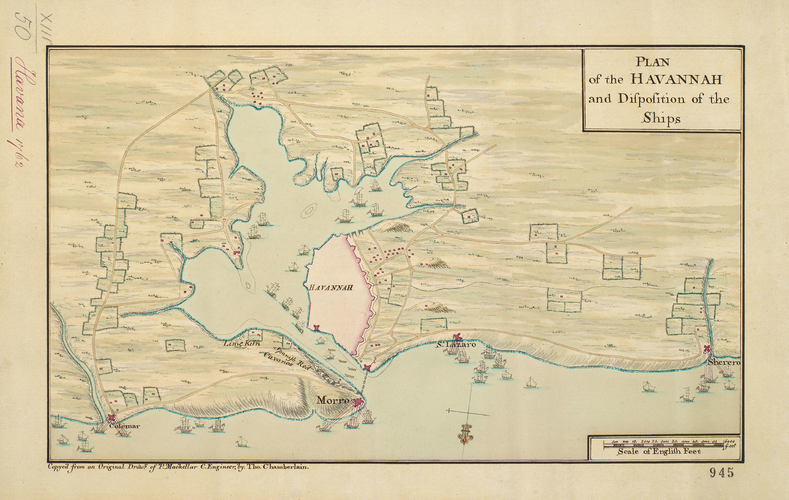 Map of Havana, 1762 (Havana, Ciudad de La Habana, Cuba) 23?07'58