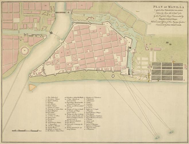 Plan of the Battle of Manila, 1762 (Manila, National Capital Region, Phillipines) 14?36'15