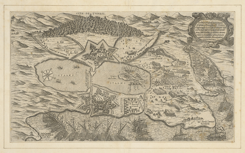 View of the siege of Tunis, 1574 (T?nis, Tunisia) 36?49?08?N 10?09?56?E