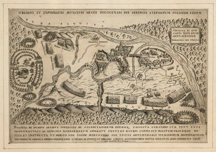 View of the siege of Polotsk, 1579 (Polotsk, Vitsyebskaya Voblasts?, Byelorussia) 55?29?16?N 28?47?08?E