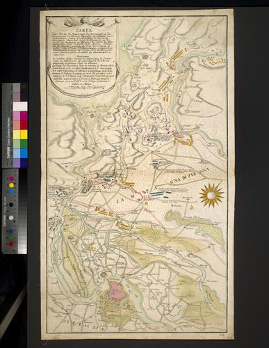 Map of encampments near Mantua, 1735 (Mantova, Lombardy, Italy) 45?09'37