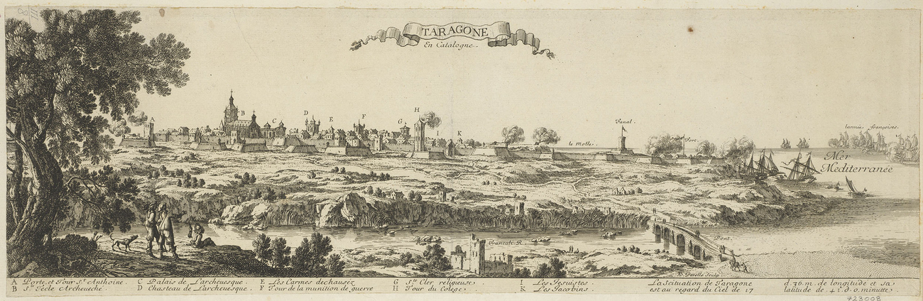 View of Tarragona, 1641 (Tarragona, Catalonia, Spain) 41?07?00?N 01?15?00?E