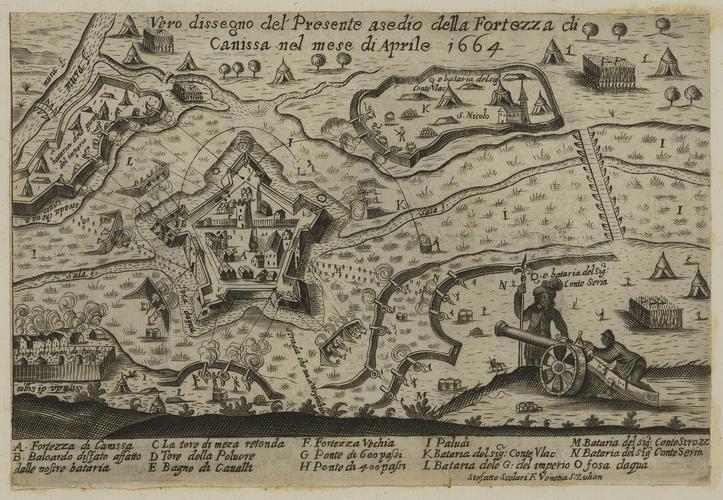 A view of Nagykanizsa, 1664 (Nagykanizsa [Canissa; Kanizsa], Zala, Hungary) 46?27?12?N 16?59?27?E