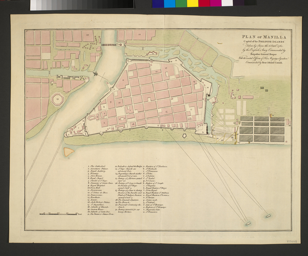 Plan of the Battle of Manilla, 1762 (Manilla, National Capital Region, Phillipines) 14?36'15