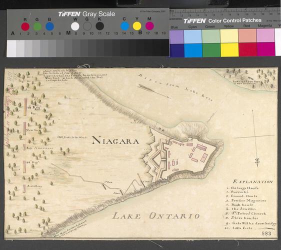 Map of Fort Niagara, 1759 (Fort Niagara, New York, USA) 43?15'42
