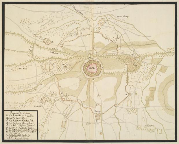 Map of the siege of Guelders, 1703 (Geldern, North Rhine-Westphalia, Germany) 51?31'08