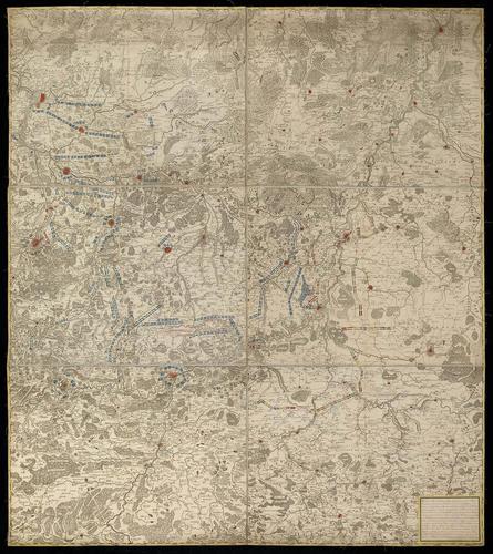 Map of Brabant, 1743-6 (Belgium; North Brabant, Netherlands)