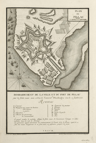 Master: Maps of Germany, 1756-62 Item: Map of Pilau, 1757 (Baltiysk, Kaliningrad, Russia) 54?39'13