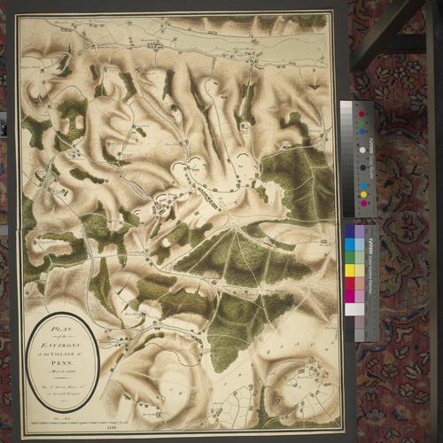 Item: Map of encampment near Penn, 1800 (Penn, Buckinghamshire, England, UK) 51?37'52