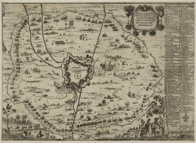 A view of the siege of Mortara, 1658 (Mortara, Lombardy, Italy) 45?14?50?N 08?44?07?E