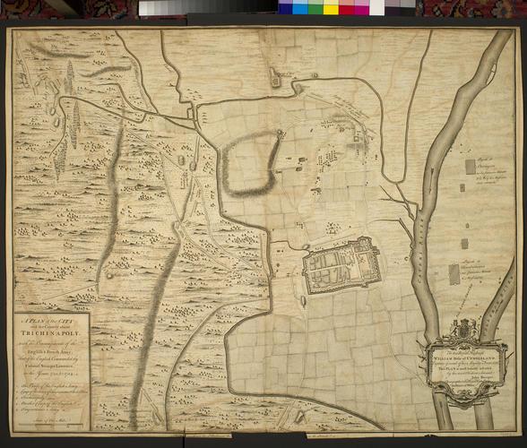 Map of Trichinopoly, 1753-4 (Tiruchir?ppalli, Tamil Nadu, India) 10?48'18