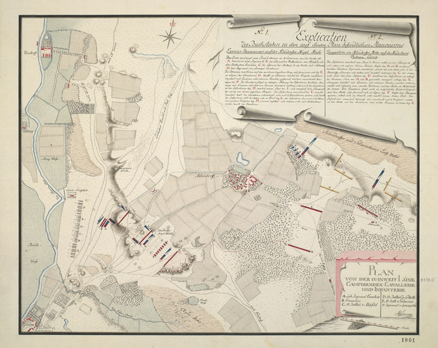 Item: Map of Adenburg and Luneburg, 1780 (Adendorf, Lower Saxony, Germany) 53?16'54