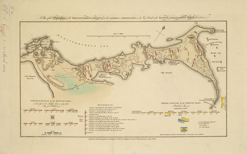 Item: Map of Egypt, 1801