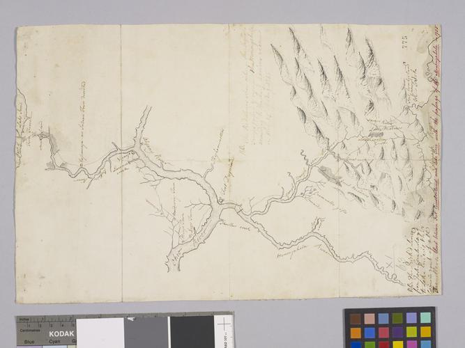 Map of Monongahela River, 1755 (Pennsylvania, USA)