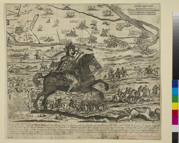 A map of Lower Hungary and Nagykanizsa, 1664 (Lower Hungary, Western and Central Slovakia); (Nagykanizsa [Canissa; Kanizsa], Zala, Hungary) 46?27?12?N 16?59?27?E