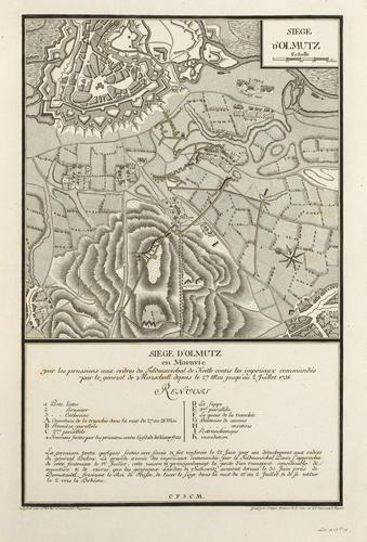 Master: Maps of Germany, 1756-62 Item: Map of the siege of Olmutz, 1758 (Olmouc, Olomoucky Kraj, Czech Republic) 49?35'51