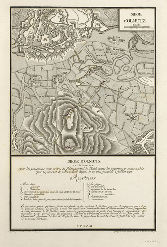Master: Maps of Germany, 1756-62 Item: Map of the siege of Olmutz, 1758 (Olmouc, Olomoucky Kraj, Czech Republic) 49?35'51