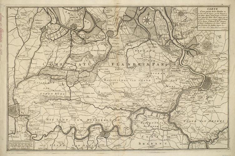 Map of Flanders and the Battle of Eckeren, 1703 (Ekeren, Flanders, Belgium) 51?16'51
