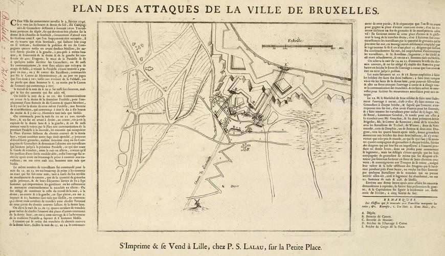 Map of the siege of Brussels, 1746 (Brussels, Brussels Capital Region, Belgium) 50?51'01
