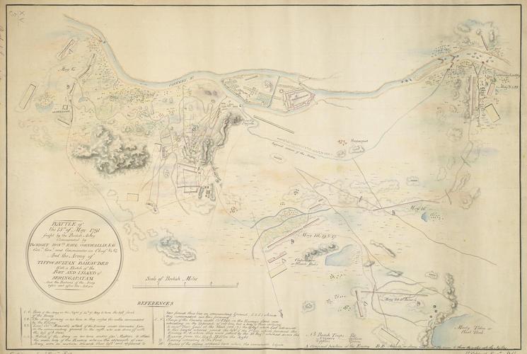 Map of the Battle of Seringapatam, 1791 (Seringapatam, Karn?taka, India) 12?25'10