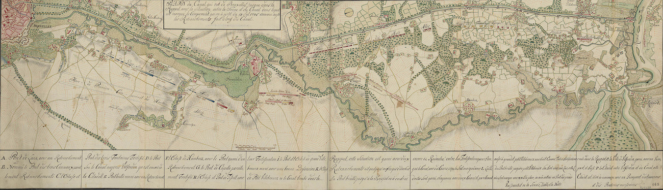 Map of encampment at Brussels and Willebroek, 1745 (Brussels, Belgium) 50?51'01