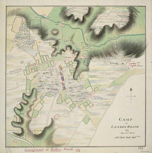 Item: Sketch of Lexden Heath, 1779 (Lexden Heath, Essex, UK) 51?53'23