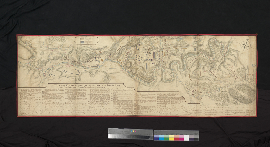 Map of Klausen and the Moselle, 1735 (Klausen, Rhineland-Palatinate, Germany) 49?54?00?N 06?52?00?E