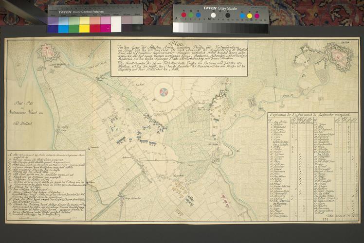 Map of encampment at Terheijden, 1746 (Terheijden, North Brabant, Netherlands) 51?38'36