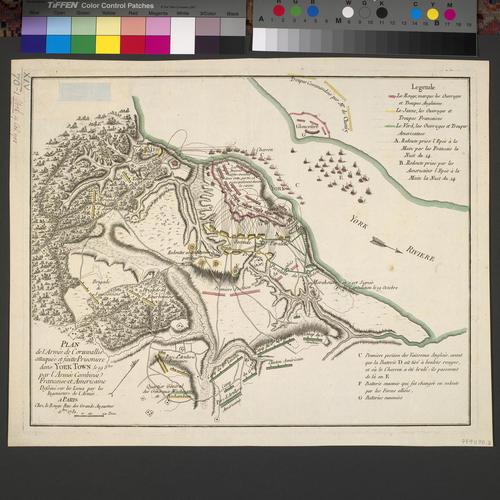 Item: Map of the siege of Yorktown, 1781 (Yorktown, Virginia, USA) 37?14'19