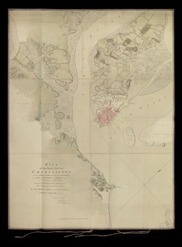 Item: Map of Charlestown, 1780 (Charleston, South Carolina, USA) 32?45'32