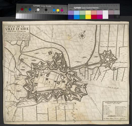 Map of the siege of Aire, 1710 (Aire-sur-la-Lys, Nord-Pas-de-Calais, France) 50?38'19