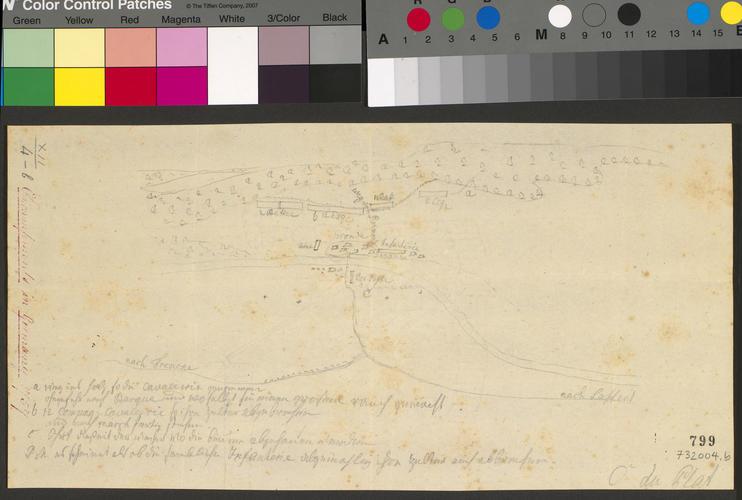 Master: [Encampments in Germany 1757] Item: Sketch of encampment at Grohnde, 1757 (Grohnde, Lower Saxony, Germany) 52?01'00