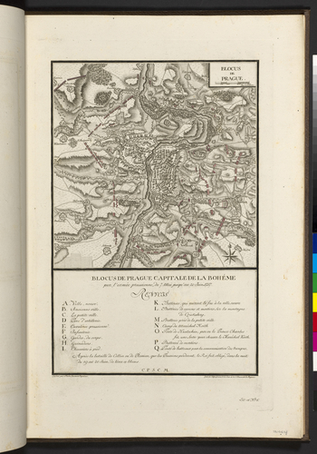 Master: Maps of Germany, 1756-62 Item: Map of the siege of Prague, 1757 (Prague, Hlavni Mesto Praha, Czech Republic) 50?05'16