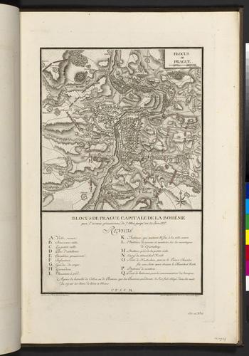 Master: Maps of Germany, 1756-62 Item: Map of the siege of Prague, 1757 (Prague, Hlavni Mesto Praha, Czech Republic) 50?05'16