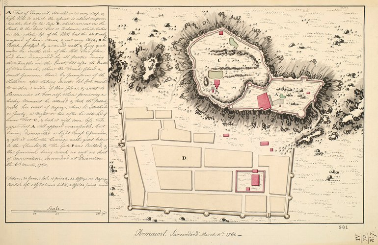 Plan of Permacoil, 1760 (Modern name not known, Tamil N?du, India) 12?12'00