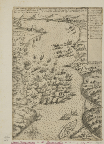 View of the Strait of the Dardanelles, 1657 (Dardanelles, Turkey) 40?13?52?N 26?28?47?E