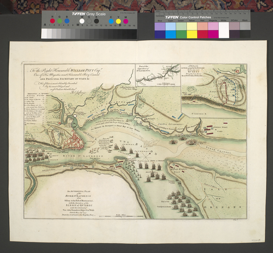 Map of the siege of Quebec, 1760 (Quebec, Canada) 46?47'51