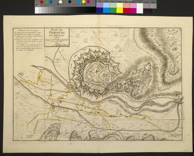 Map of the siege of Fribourg, 1744 (Freiburg, Baden-Wurttemberg, Germany) 47?59'45