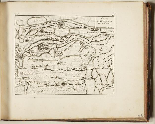 Master: THEATRE DE LA GUERRE EN ALLEMAGNE. . . Item: Map of Fugelsheim, 1734 (Fussgonheim, Rhineland-Palatinate, Germany) 49?27?40?N 08?17?32?E