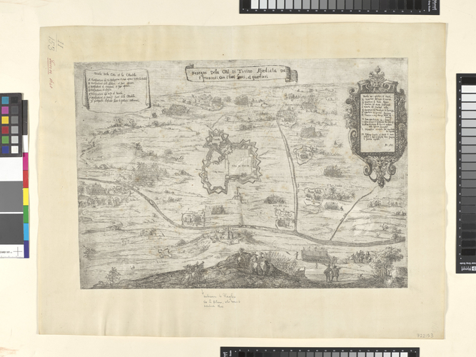 Map of the siege of Turin, 1640 (Turin, Piedmont, Italy) 45?04'13