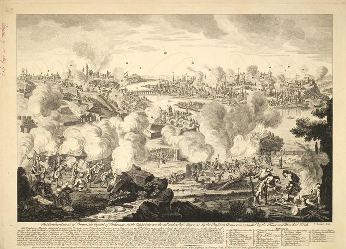 View of Prague, 1757 (Prague, Hlavni Mesto Praha, Czech Republic) 50?05'16