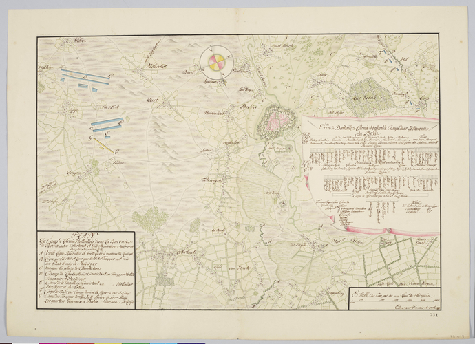 Map of encampment and order of battle at Breda, 1748 (Breda, North Brabant, Netherlands) 51?35'11