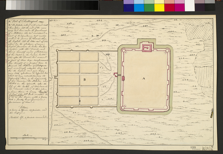 Plan of Chettaput, 1760 (Chetput, Tamil N?du, India) 12?28'00