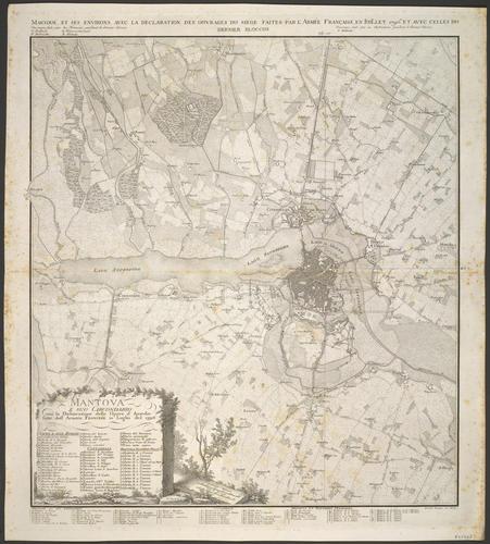 Map of the siege of Mantua, 1796 (Mantova, Lombardy, Italy) 45?09'37