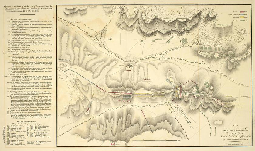 Map of the Battle of Albuera, 1811 (La Albuera, Extremadura, Spain) 38?43'04