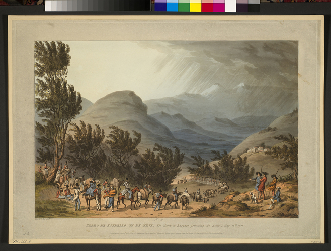 Master: Spain Twelve Views of the principal occurences of the Campaigns of 1810 and 1811 in Spain and Portugal: by Major T. S. t Clair, engraved by C. Turner, 1812-15. Item: View of Serra da Estrela,