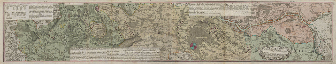 Map of Klausen, Hunsruck, Moselle and Rhine and order of battle of the Imperial army, 1735 (Klausen, Rhineland-Palatinate, Germany) 49?54?00?N 06?52?00?E; (Upland area, Rhineland-Palatinate, Germany)